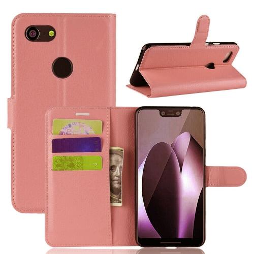the best attitude c4b1d 4ef01 Magnetic Card Slot Leather Folio Wallet Flip Case Cover for Google Pixel 3  XL, Rose Gold