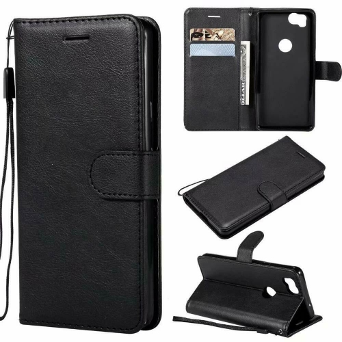 half off 2e974 be8a5 Magnetic Card Slot Leather Folio Wallet Flip Case Cover for Google Pixel 2  XL, Black