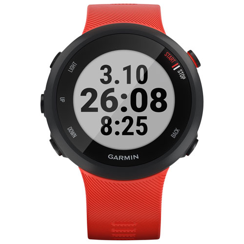 Garmin Forerunner 45 42mm GPS Watch with Heart Rate Monitor - Large - Lava Red