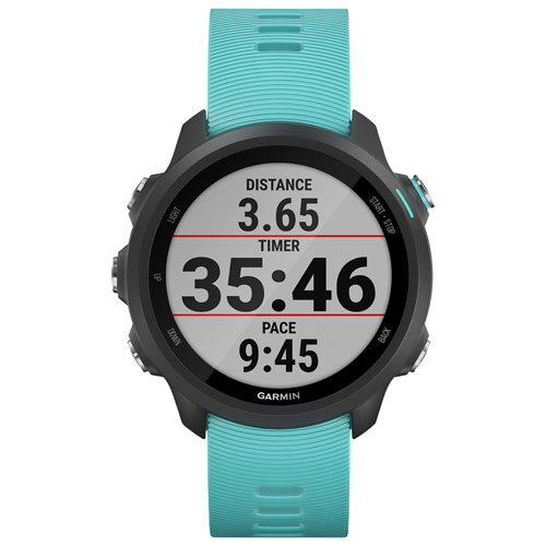 Garmin Forerunner 245 Music 30mm GPS Watch with Heart Rate Monitor - Large - Aqua