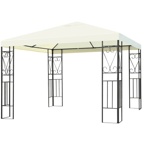 best website 96afc ace25 Costway 10'x10' Patio Gazebo Canopy Tent Steel Frame Shelter Patio Party  Awning