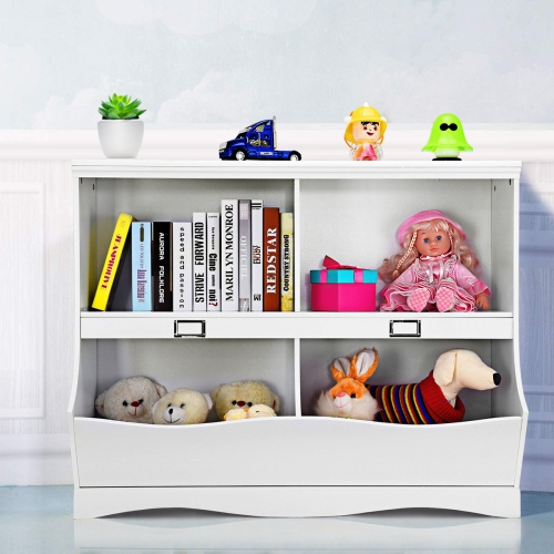 separation shoes df66e 0ae41 Gymax Children Storage Unit Kids Bookshelf Bookcase Baby Toy Organizer  Shelf White