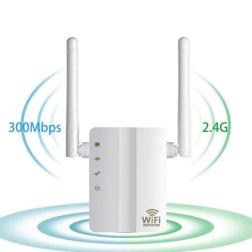 Extendeur WiFi Amplificateur amplificateur de signal longue portée sans fil avec répéteur 300Mbps avec point d'accès, WiFi vers Smart Home et apparei