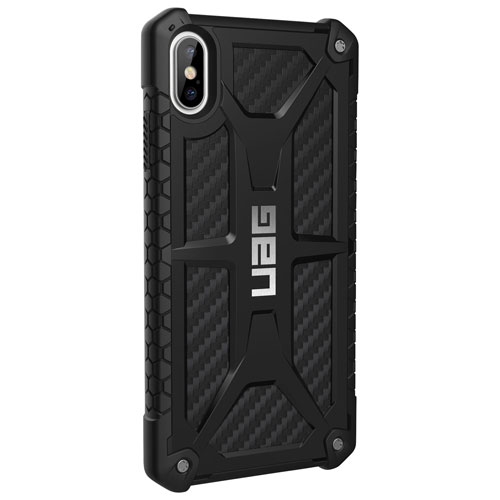 online retailer 5ee13 2c605 UAG Monarch Fitted Hard Shell Case for iPhone XS Max - Carbon Fibre