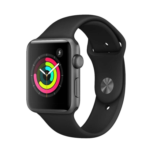 online store b8708 8f204 Apple Watch Series 3 (GPS) 42mm Space Grey Aluminium Case with Black Sport  Band - Refurbished