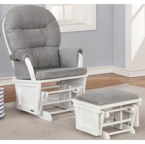 Outstanding Lennox Furniture Glider Chair Rocker Rocking Sofa Chair And Ottoman Set White Grey Creativecarmelina Interior Chair Design Creativecarmelinacom