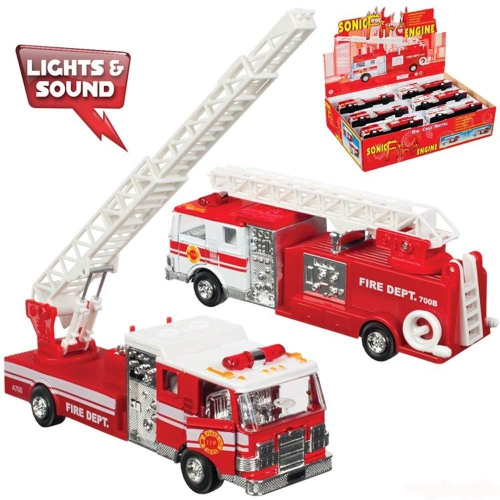 Toysmith - 4855 | Fire Truck - Die Cast Assorted Styles