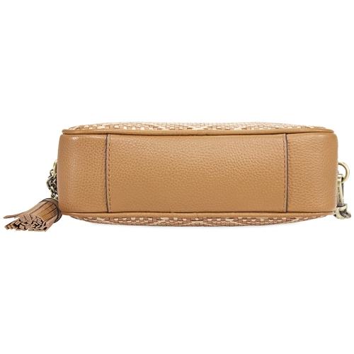 6ed5b03fbf78 Michael Kors Ginny Medium Woven Leather Crossbody- Acorn/Butternut   Best  Buy Canada