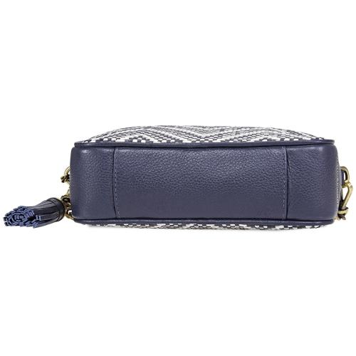 0bd3f6127 Michael Kors Ginny Medium Woven Leather Crossbody- ADMIRAL/OPWT | Best Buy  Canada