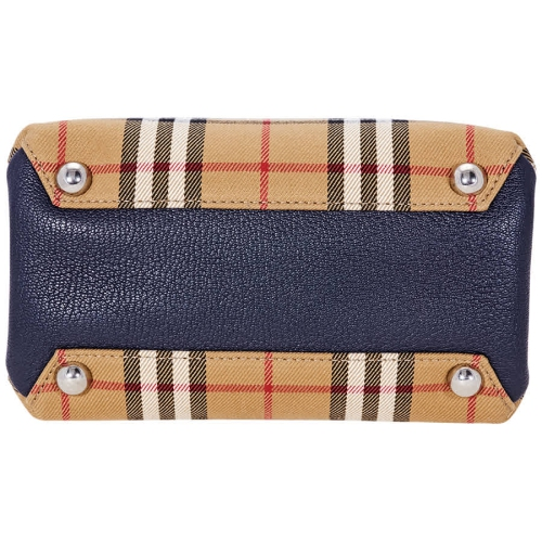 fb0432ca185 Burberry Baby Banner in Vintage Check and Leather- Regency Blue ...