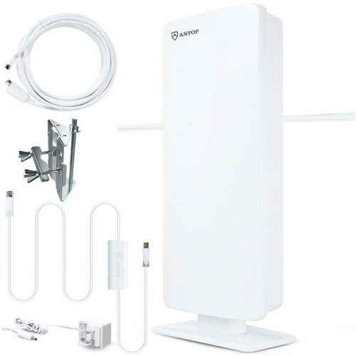 ANTOP Big Boy Flat-panel Smartpass Amplified Outdoor HDTV Antenna - 80 Mile
