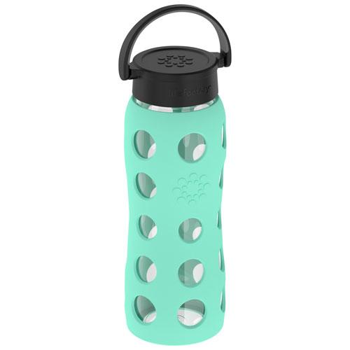 LifeFactory 650 ml Glass Water Bottle - Sea Green