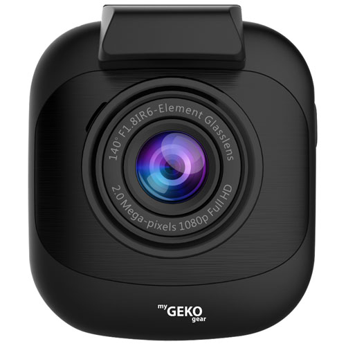 """myGEKOgear Orbit 530 Full HD 1296p Dashcam with 2"""" LCD Screen & Wi-Fi - Only at Best Buy"""