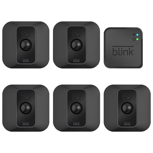 Blink XT2 Wire-Free Home Security System with 5 1080p HD Cameras - Black