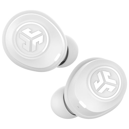 JLab JBuds Air In-Ear Sound Isolating Truly Wireless Bluetooth Headphones - White