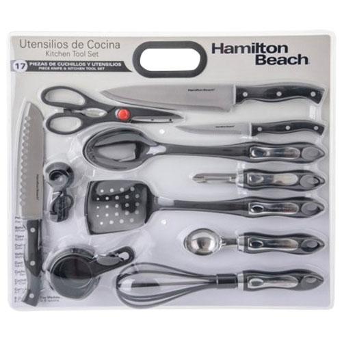 Hamilton Beach 17 Piece Kitchen Utensil Set Black Marine Duty Free