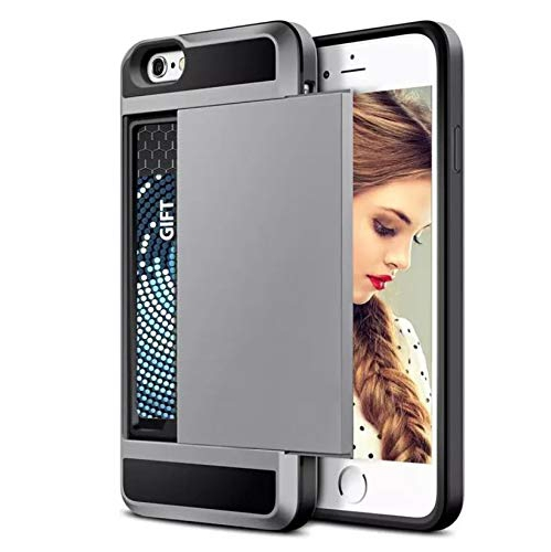 Shockproof Case Credit Card Holder Cover wallet Slot for iPhone 6 Plus / 6S Plus