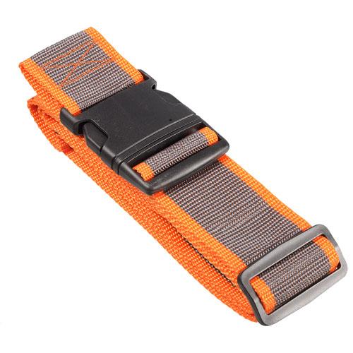 Nicci Luggage Strap - Brown/Orange