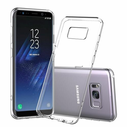 Coque Samsung Galaxy S8, Jenuos Transparent Doux Souple Extrêmement Fin Housse TPU Silicone Etui pour Samsung Galaxy S8- Transparent