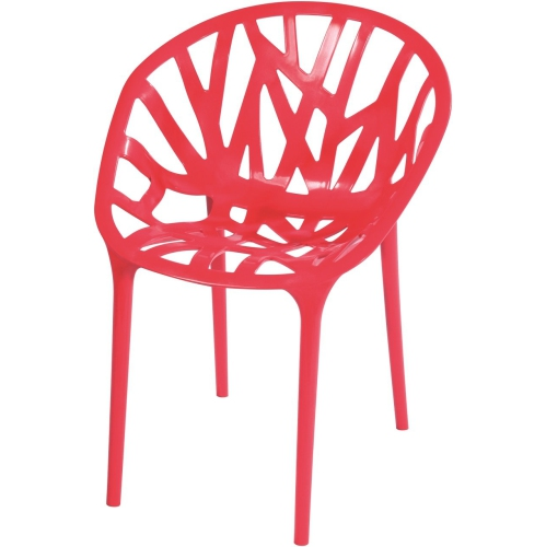 Nicer Furniture Modern Red Stackable, Stacking Patio Furniture Canada