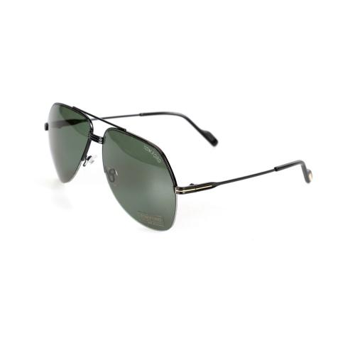 d0bb31ead Tom Ford Wilder Black Green Pilot Sunglasses FT0644 01N | Best Buy ...