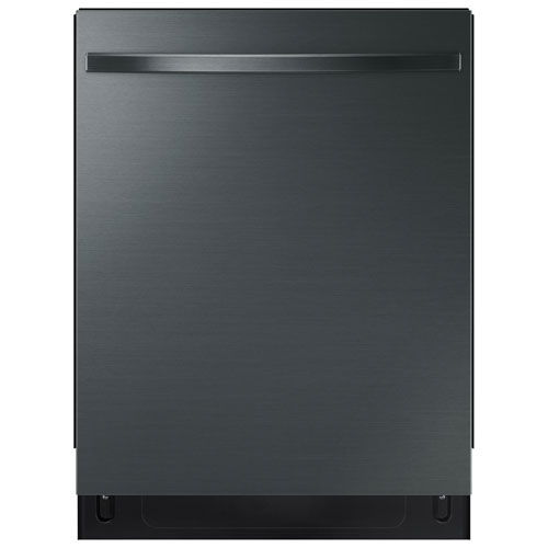 """Samsung 24"""" 48dB Built-In Dishwasher w/ Stainless Tub & Third Rack -Black Stainless"""