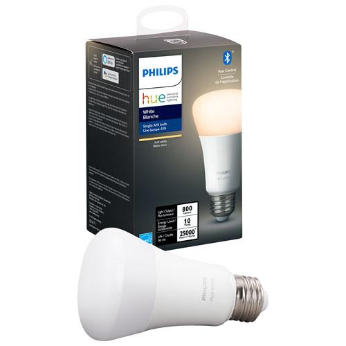 Ampoule DEL intelligente Bluetooth Hue A19 de Philips - Blanc