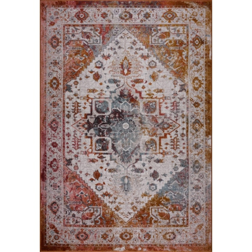Ladole Rugs Modena Traditional Beautiful Area Rug in Brown Cream, 8x11