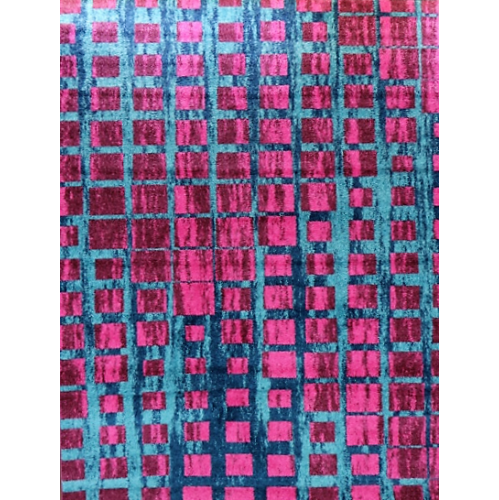 Ladole Rugs Smooth Area Rug in Geometric Pattern in Pink, 7x10