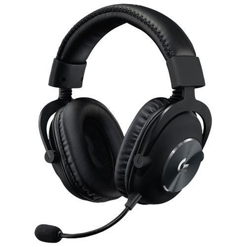 Casque de jeu avec microphone Pro X de Logitech - Noir