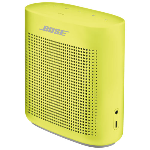 Haut-parleur étanche sans fil Bluetooth SoundLink Color II de Bose - Jaune citron