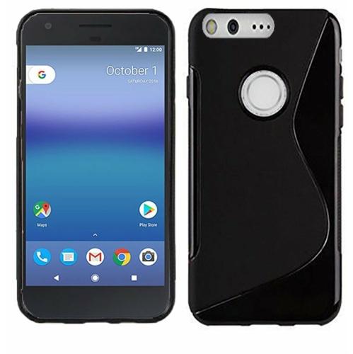 Étui Coque de protection arrière ultra fin et souple en silicone TPU Jelly pour Google Pixel 2, noir