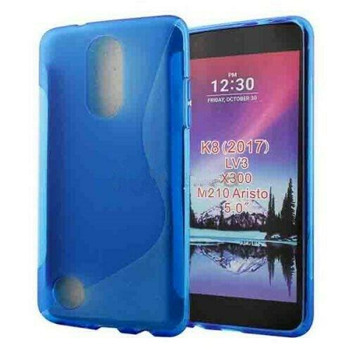 Étui Coque de protection arrière ultra fin et souple en silicone TPU Jelly pour LG K4 2107, bleu