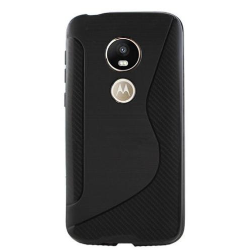 Étui Coque de protection arrière ultra fin et souple en silicone TPU Jelly pour Motorola G6 Play, noir
