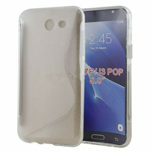 Étui Coque de protection arrière ultra fin et souple en silicone TPU gelée pour Samsung Galaxy J3 Prime / J3 2017, Claire