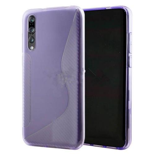 Étui Coque de protection arrière ultra fin et souple en silicone TPU Jelly pour Samsung Galaxy A70, violet