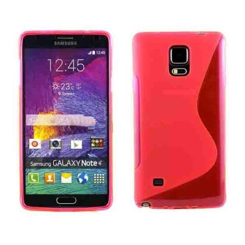 Étui Coque de protection arrière ultra fin et souple en silicone TPU Jelly pour Samsung Note 4, rose