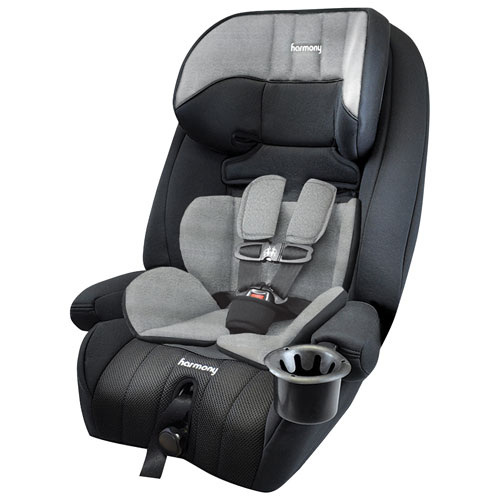 Harmony Defender 360° 3-in-1 Convertible Booster Car Seat with Insert - Heather Grey