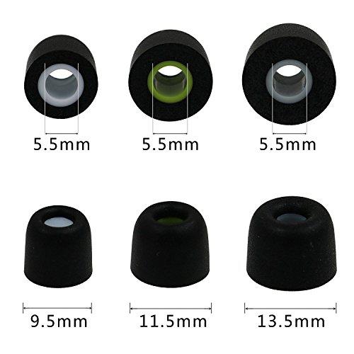 3Pair SML Ear Tips Memory Foam For JayBird BlueBud X X2 Headphones Replacement
