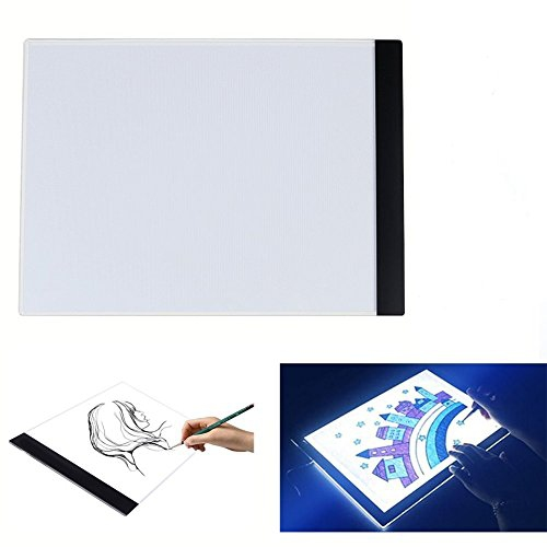 lahomia Dimmable LED Light Box A4 Tablero De Pintura USB Ultra Slim Drawing Copy Pad