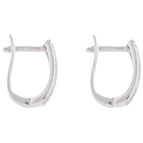 Boucles d'oreilles pendantes cubiques en argent sterling avec zircons cubiques Le Reve