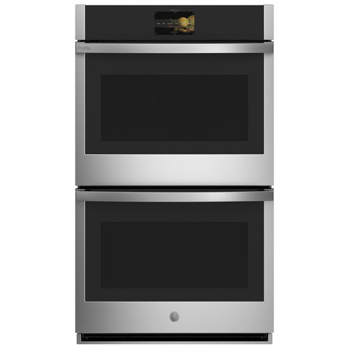 """GE Profile 30"""" 5 Cu.Ft./5 Cu.Ft. True Convection Electric Double Wall Oven - Stainless"""