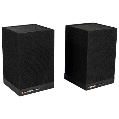 Klipsch SURROUND 3 60-Watt Bookshelf Speaker - Pair - Black