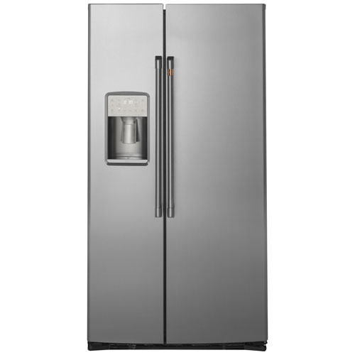 """Café 36"""" 21.9 Cu. Ft. Counter-Depth Side-By-Side Refrigerator - Stainless Steel"""
