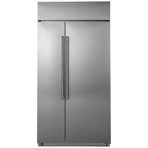 Réfrigérateur à congélateur juxtaposé de 25,2 pi³ 42 po à éclairage DEL Café - Inox