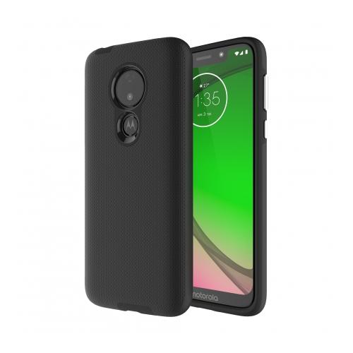 Axessorize PROTech coque anti-choc avec bordures surélevées et une durabilité de niveau militaire pour Motorola Moto G7 Power | Noir