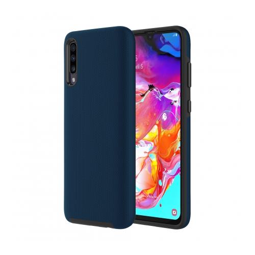 Axessorize PROTech coque anti-choc avec bordures surélevées et une durabilité de niveau militaire pour Samsung Galaxy A70 | Bleu cobalt