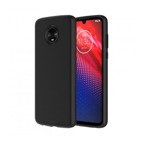Axessorize PROTech Dual-layered case is an anti-shock case with raised lips and military-grade durability for Motorolla Moto Z4 | Black