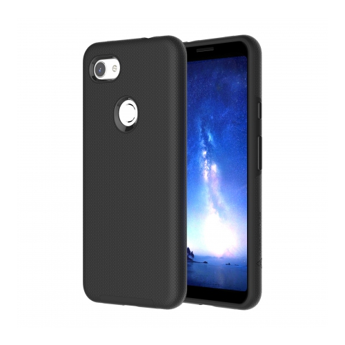 Axessorize PROTech Dual-layered case is an anti-shock case with raised lips and military-grade durability for Google Pixel 3a XL | Black