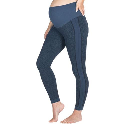Modern Eternity Ella Active Maternity Pants - Medium - Navy Jacquard